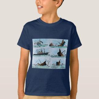 T-shirt RMS Titanic descendant l'histoire de glissière de
