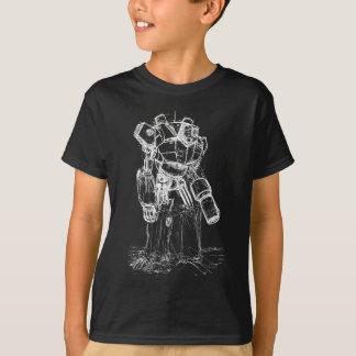 T-shirt Robot blanc