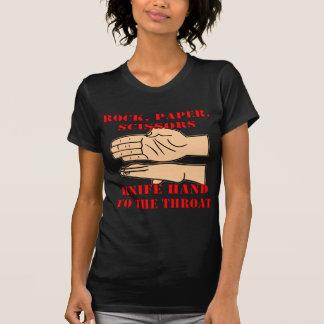 T-shirt Roche, ciseaux de papier, main de couteau à la