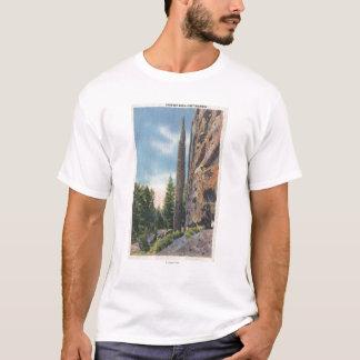 T-shirt Roche de cheminée sur la route de Cody, vue du