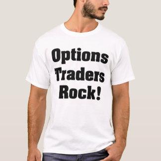 T-shirt Roche de commerçants d'options