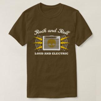 T-shirt Rock : Bruyant et électrique. Brown