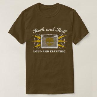 T-shirt Rock : Bruyant et électrique. Brun affligé