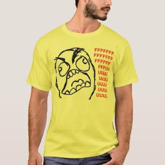 T-shirt rofl comique de lol de meme de rage de visage de