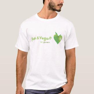 T-shirt Roh et vegan de tout coeur (coeur de pomme vert)