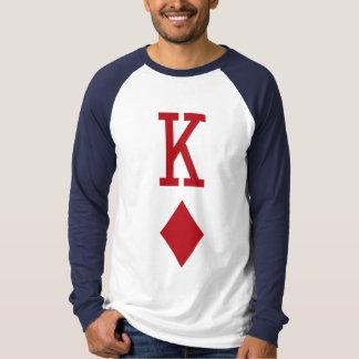 T-shirt Roi de carte de jeu rouge de diamants