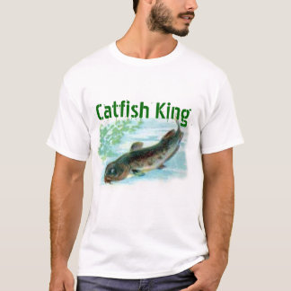 T-shirt roi de poisson-chat