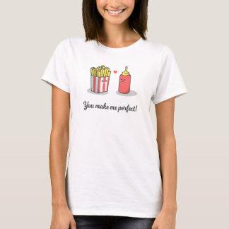 T-shirt Romantique drôle vous me faites la chemise