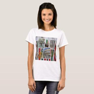 T-shirt Rome le collage de ville éternelle