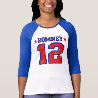 T-shirt Romney '12, conception de sport de fac, Mitt
