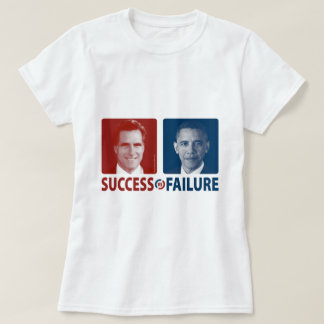 T-shirt Romney contre Obama - succès contre l'échec