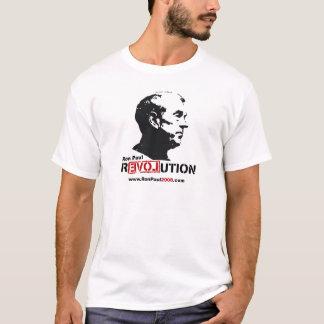 T-shirt Ron Paul font face au pochoir - révolution