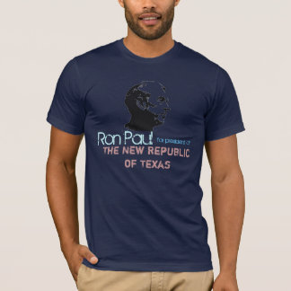 T-shirt Ron Paul font face au pochoir, Ron Paul, pour le