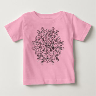 T-shirt ROSE avec l'art de mandala