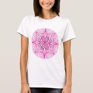 T-shirt Rose aztèque de cercle