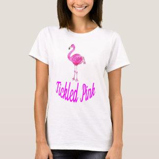 T-shirt Rose chatouillé - flamant rose d'aquarelle
