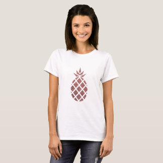 T-shirt rose d'ananas de parties scintillantes