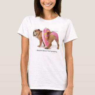 T-shirt rose de bikini de point de Zelda Polk