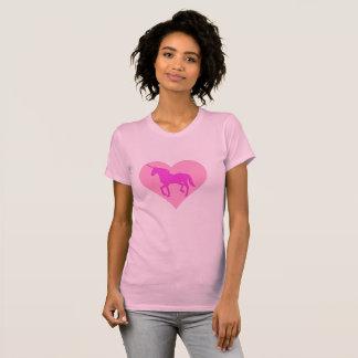T-shirt rose de coeur de licorne