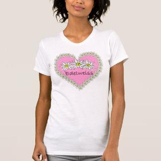 T-shirt rose de coeur d'Octoberfest d'edelweiss