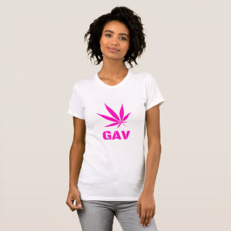 T-shirt rose de GAV par le #GrindAndVape