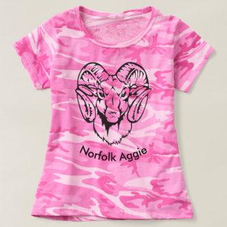 T-shirt rose de la Norfolk Aggie Camo