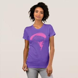 T-shirt rose de lutin de parapentisme