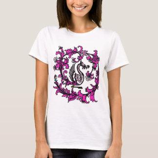 T-shirt rose de Phoenix de Chinois
