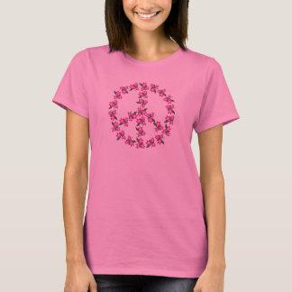 T-shirt rose de signe de paix - autre colore