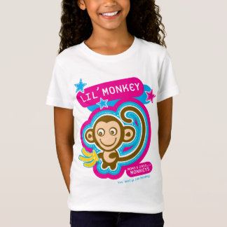 T-Shirt Rose de singe-enfants de Lil
