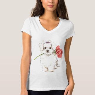 T-shirt Rose de Valentine maltais