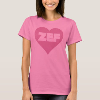 T-SHIRT ROSE DE ZEF