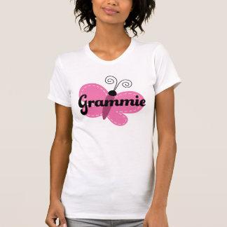 T-shirt rose d'idée de cadeau de papillon de