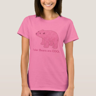 T-shirt rose d'ours blanc