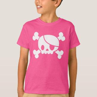 T-shirt rose du pirate de l'enfant