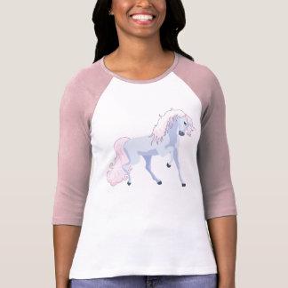 T-shirt Rose en pastel et bleu de licorne