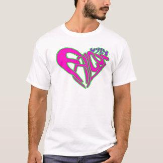 T-shirt Rose laid de coeur de faucon