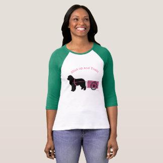 T-shirt Rose le plus mignon fermé et chemise de chien