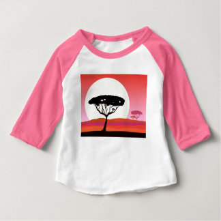 T-shirt rose mignon : forêt sauvage