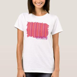 T-shirt Rose mince 2 de rayures