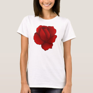 T-shirt Rose rouge gothique romantique