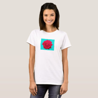 T-shirt Rose rouge rouge