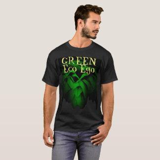 T-shirt Rose vert d'amour-propre verte d'Eco sur l'arrière