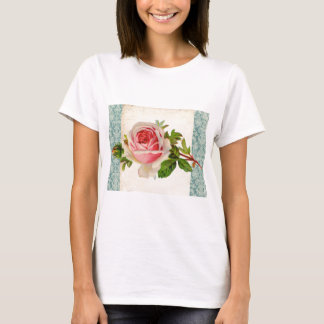 T-shirt Rose victorien et damassé