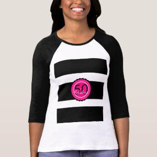 T-shirt Roses indien et noir 50 et cadeau d'anniversaire