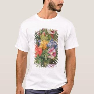T-shirt Roses, pavot et Pelargonia