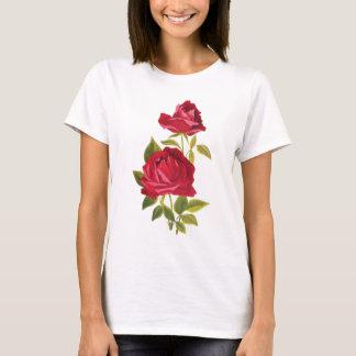 T-shirt Roses rouges brodés