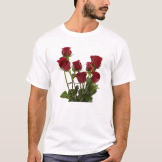 T-shirt Roses rouges de longue tige