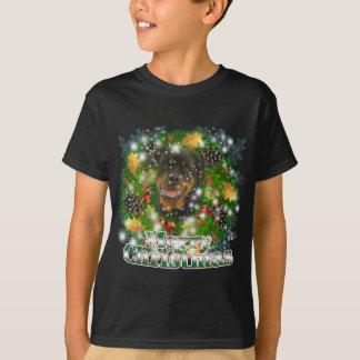 T-shirt Rottweiler de Joyeux Noël