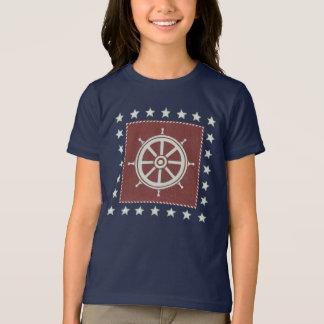 T-shirt Roue côtière de bateau de l'art | sur le rouge